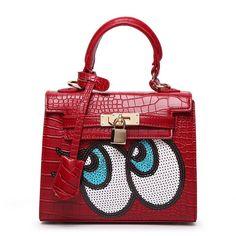 Cartoon Eyes Tote Bag