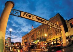The Fort Worth Stockyards, named to the National Register of Historic Places in 1976, is composed of 15 blocks where visitors can experience the authentic American West.
