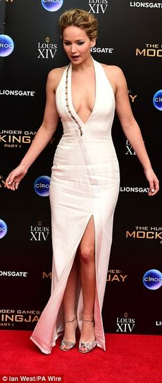 Riding thigh-high! Jennifer Lawrence is one of the biggest stars in Hollywood at just 24