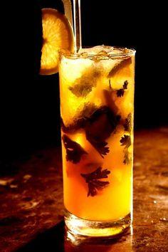 Orange Glacier Colorful Cocktails, Brass Necklace, Pint Glass, Beer, Orange, Glasses, Tableware, Food, Root Beer