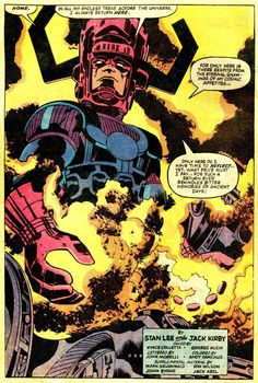 Galactus in Thor vol 1 #167 | Art by Jack Kirby & Vince Colletta