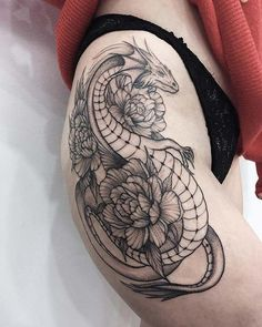 Dragon Tattoos For Women On Thigh