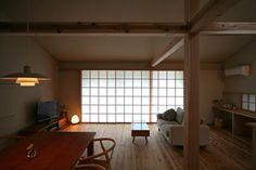 切妻の大屋根 |鎌倉の家 2階リビング
