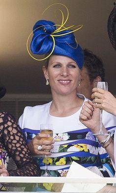 Zara Tindall showed off her elaborate topper in the royal box. Royal Monarchy, British Monarchy, Disney Inspired Fashion, Disney Fashion, Celebrity Babies, Celebrity Photos, Celebrity Style, Royal Princess, Princess Diana