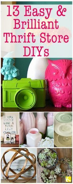 13 Easy & Brilliant Thrift Store DIYs