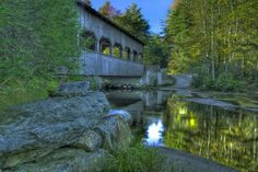 Covered bridge on the way to Triple Falls