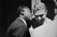 awesome people hanging out together - Miles Davis & Steve McQueen