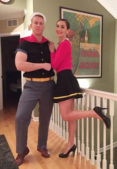 Popeye and Olive Oyl - easy couples Halloween Costume