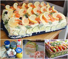 Seafood Smorgastarta AKA Swedish Sandwich Cake!