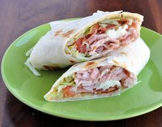 Ultimate Turkey Bacon Club Sandwich Wrap (GF wraps, of course) Recipe I Love Food, Good Food, Yummy Food, Boite A Lunch, Comida Latina, Turkey Bacon, Cooking Recipes, Healthy Recipes, Lunch Recipes