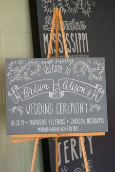 Wedding Welcome Signs In Chalkboard, Wood, & Glass