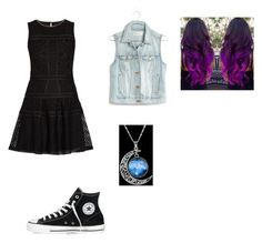 """""""Luna"""" by falloutboyfan101 on Polyvore featuring Converse, Morgan and Madewell"""