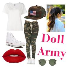 """""""Doll Army"""" by dd4lfan1 ❤ liked on Polyvore featuring Visvim, Billabong, Converse and Ray-Ban"""