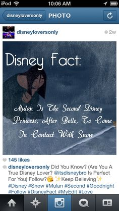 Disney fact... she's not a princess...which makes her just that more awesome!!!!!!