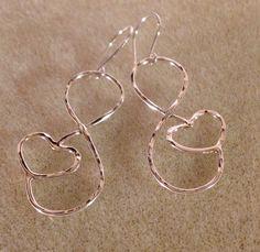Silver Infinity Earrings by EllynBlueJewelry on Etsy https://www.etsy.com/listing/159564434/silver-infinity-earrings