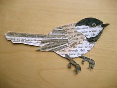 Paper chickadee | She's probably looking for a bookworm! (ha… | Flickr