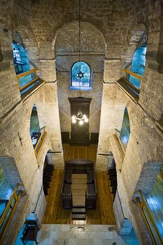 Inside view of the Il Kal Vježu, the Old Jewish Temple, Sarajevo, Bosnia and… Jewish Synagogue, Jewish Temple, Sacred Architecture, Religious Architecture, Montenegro, Places Around The World, Around The Worlds, Bósnia E Herzegovina, Sarajevo Bosnia
