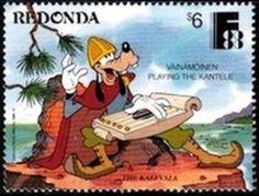 Kalevala Stamp, Disney, Stamps, Disney Art