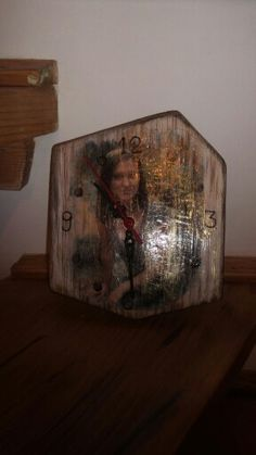 Personalized clock / print photo onto wood