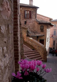 Assisi - the town of winding streets.