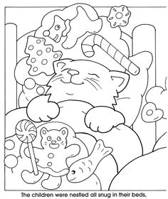 Welcome to Dover Publications..From : The Night Before Christmas - Coloring and Stickers Fun..