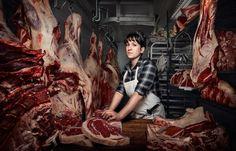 Heather Marold Thomason, butcher and owner of Primal Supply Meats in Philadelphia, Pennsylvania Photograph: Chris Crisman