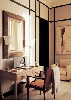 Beautiful Chic Home Office by Jacques Grange