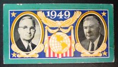 ticket to the 1949 Presidential inauguration