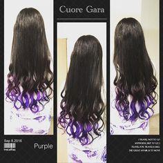 WEBSTA @ tango0555 - 今回はマニパニインナーグラデーション♪ 紫のマニパニを使ったインナーカラーでグラデーションだよーん⭐️v(^_^v)♪#夏#2016#流行り#マニパニ#マニックパニック#名駅#名古屋#美容師#美容院#cuoregara#カラーリスト#いいね#グラデーションカラー#インナーカラー#サロモ#カトモ#followme#beautysalon#hair#color#manicpanic#nagoya#japan#colorlist#purple#かわいい