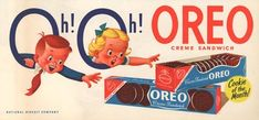 Celebrate 100 Years Of Oreo With A History Of Its Marketing Advertisement Images, Retro Advertising, Retro Ads, Vintage Advertisements, Vintage Ads, Vintage Posters, Retro Food, Vintage Stuff, Vintage Food Labels
