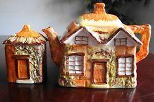 Vintage England 2pcs Price Kensington Cottage Ware Teapot & Canister Set Mint