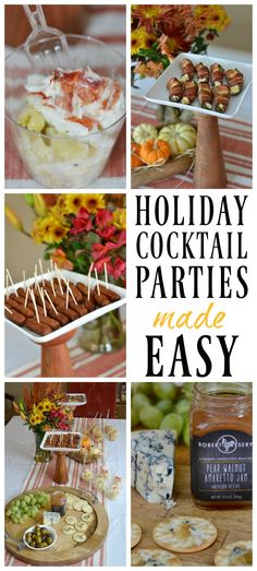 Tips for hosting a holiday cocktail party with appetizers that are delicious and easy to prepare. #sponsored