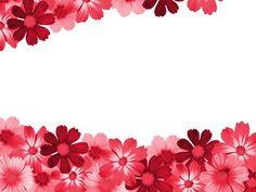 Red flower border - red, flower, love, border