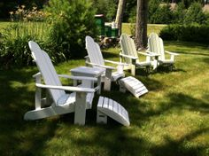 Classic FairCape Woodworks Adirondack chair in sage green #faircapewoodworks