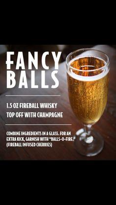 Fireball whiskey -- groomsmen drinks before the wedding? Bar Drinks, Cocktail Drinks, Yummy Drinks, Alcoholic Drinks, Cocktail Recipes, Fireball Recipes, Alcohol Drink Recipes, Fireball Mixed Drinks, Fireball Cocktails