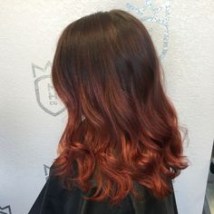 Copper Red Balayage Ombre by Wynter DePriest - Monarch Hair Co. Monarchhair.co
