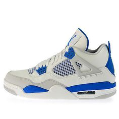 Nike Air Jordan 4 IV Retro Mens 308497-105 Military Blue Basketball Shoes Sz 13