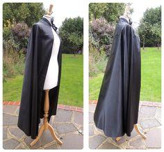easy make satin dracula cape