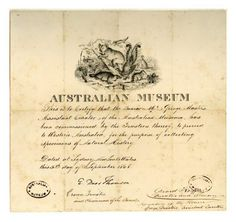 George Masters Collection Certificate - like a beautifully illustrated collecting passport for specimens.