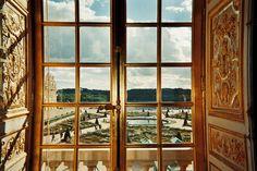 Versailles garden through window
