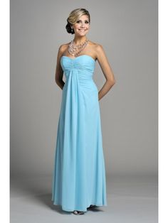 Cheap Long Blue Chiffon Bridesmaid Dresses Maxi / Prom / Evening Wedding Guest Dresses 9970101