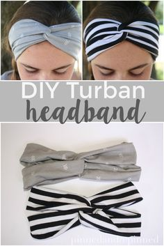 The easiest DIY turban headband to make in under 15 minutes. via - Scrunchies The simplest DIY turban headband that can be made in less than 15 minutes. via PINNED AND REPI … - Sewing Projects Baby headbands are a must for your adorable baby boy. Sewing Hacks, Sewing Tutorials, Sewing Crafts, Sewing Patterns, Sewing Tips, Quilting Tutorials, Dress Patterns, Sewing Headbands, Fabric Headbands