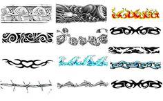 Armband Tattoo Designs for Men Armband Tattoos Designs for Men Simple Armband Tattoos, Armband Tattoo Meaning, Tribal Armband Tattoo, Armband Tattoo Design, Tribal Tattoos, Wave Tattoos, Polynesian Tattoos, Band Tattoo Designs, Tattoo Band