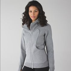 NWT Lululemon Cozy Cuddle Up Jacket  Brand new with tags! Perfect asymmetrical zip thats makes this jacket super trendy beautiful color gray, i have this jacket in maroon and i LOVE it; but i dont need two! Hoping to find a good home for it!  lululemon athletica Jackets & Coats