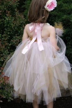 girls fairy Tutu halter dress customize. $40.00, via Etsy.