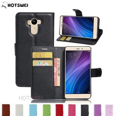 >> Click to Buy << HOTSWEI Phone Case For Xiaomi Redmi 4 pro prime New Lichee Pattern Card Holder Magnetic Leather Stand Wallet Cover for Redmi 4 #Affiliate