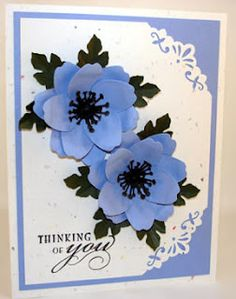 Floral punch craft card