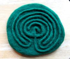 One Little Pagan: The Labyrinth Wet Felting, Needle Felting, Labyrinth Maze, Birth Art, Labrynth, Felt Art, Felt Crafts, Pagan, Art Lessons