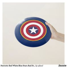 Frisbee Disc, Ultimate Frisbee, Old Glory, Hand Designs, Chicago Cubs Logo, Red White Blue, Flag, Stripes, The Incredibles