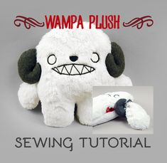 Free pattern and step by step photo tutorial - kostenlose Schnittvorlage und Bildanleitung - The Wampa Plush by SewDesuNe